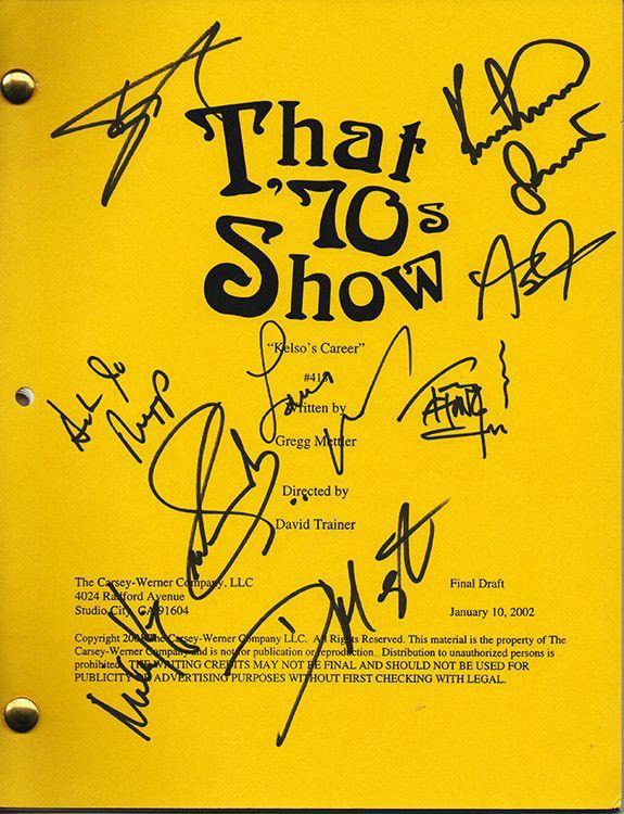 That 70s Show Autographs Full Cast Hand Signed Original Script