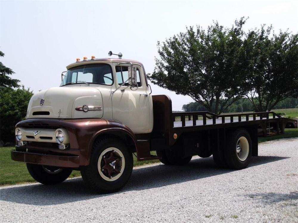 1956 FORD C800 FLATBED TOW TRUCK | POPS\' GARAGE | Pinterest | Tow ...