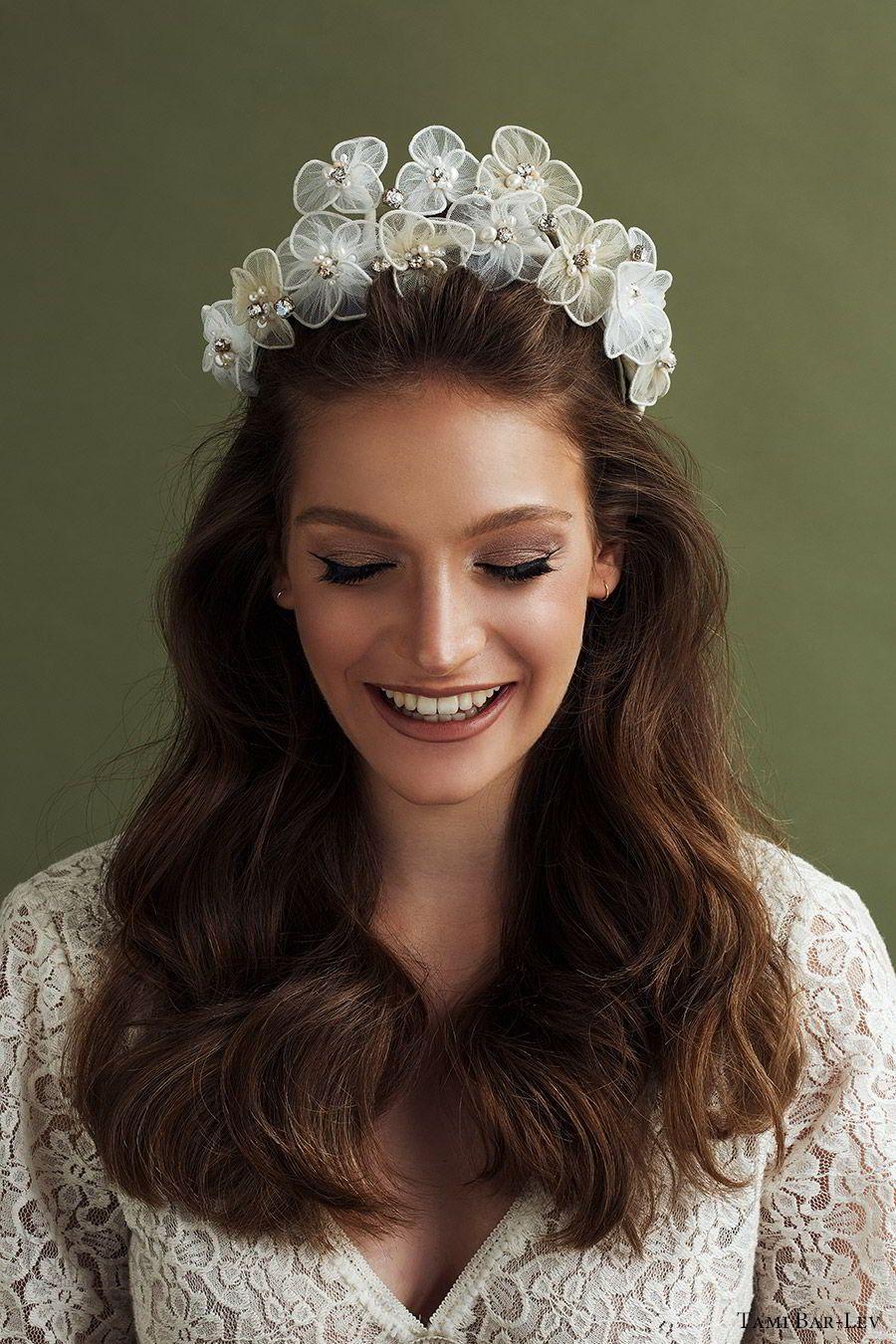 """Tami Bar-Lev's """"High by the Beach"""" Bridal Hair Accessories #bridalhair"""