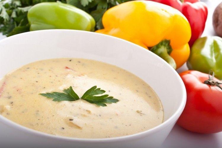 شوربة كريمة الدجاج كيتو تحضير شوربة كريمة الدجاج كيتو Mexican Food Recipes Tortilla Soup Recipes