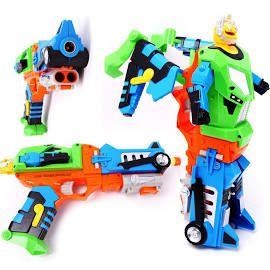 Deformation Soft Bullet Gun Shooting Pistol Robot Nerf Gun With 6