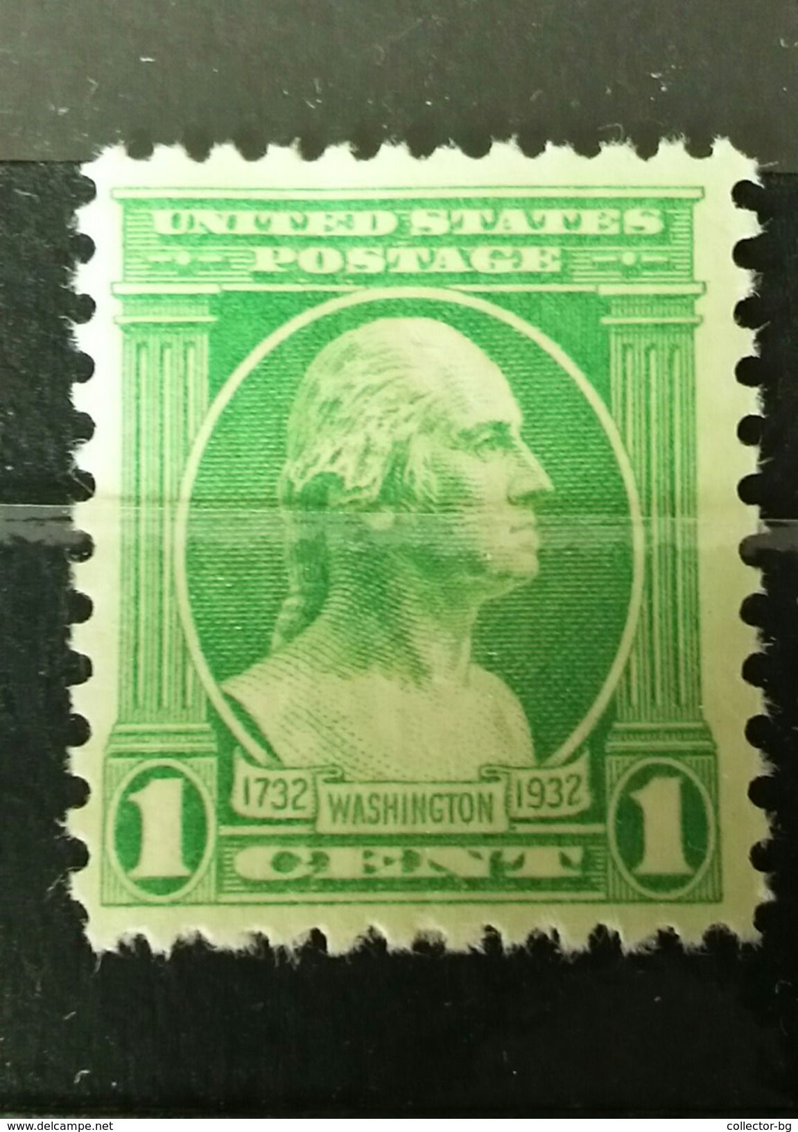 RARE 1 CENT US POSTAGE WASHINGTON 1732 1932 UNUSED MINT NEUF STAMP TIMBRE