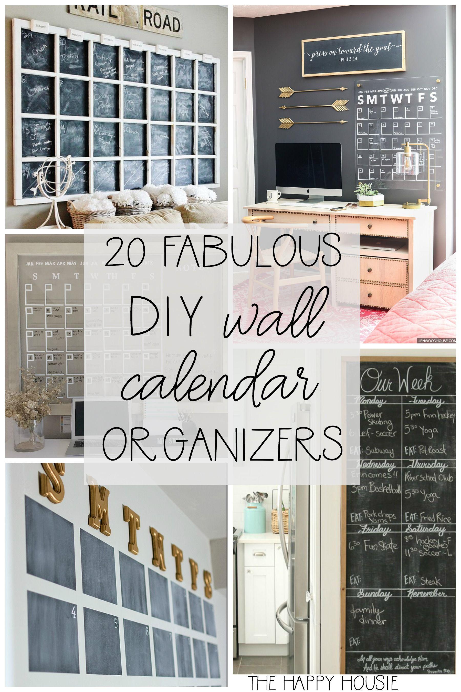 20 Fab Diy Family Wall Calendar Organizers The Happy Housie Wall Calendar Organizer Family Organization Wall
