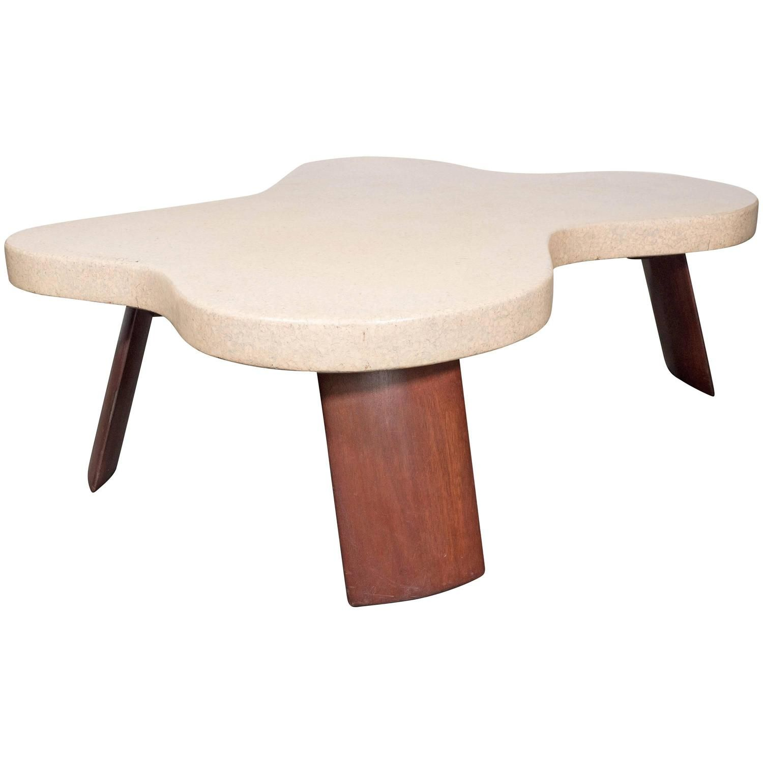 "Best Discount Furniture Websites: Iconic Mid-Century Modernist ""Amoeba"" Cork-Top Cocktail"