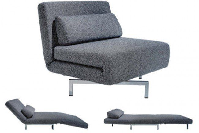 S Chair Charcoal Tweeds Convertible Chair Bed Sleeper Chair Sofa Bed Chair Bed Futon Chair