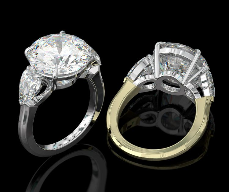 10 Carat Diamond Ring Designed By Bez Ambar The Best Prices For The Best Quality In 2020 Round Diamond Engagement Rings Three Stone Engagement Rings Diamond Rings Design