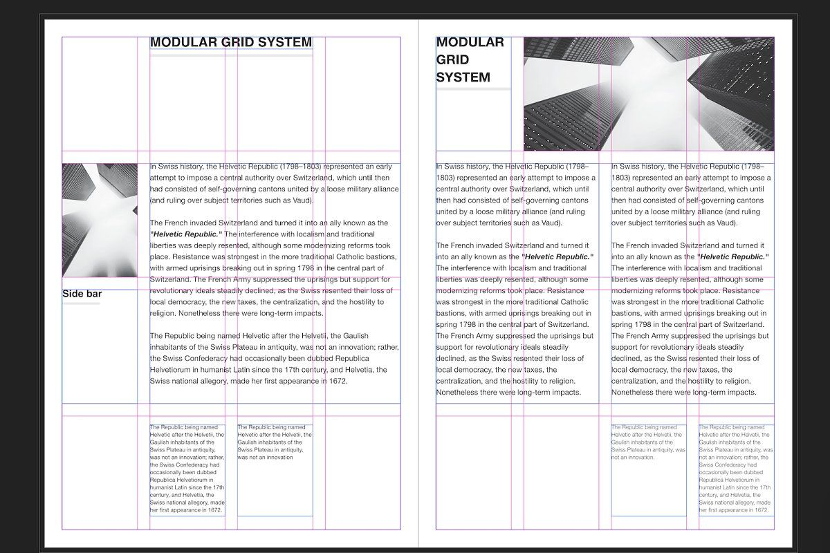 Modular Grid System A4 Booklet Design Layout Grid System Typography Book Layout