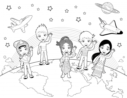 Detailed Coloring Page U2013 Children Of The World #Build #focus #concentration  #for