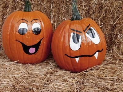 how to paint cute pumpkin faces on pumpkins - How To Paint Pumpkins For Halloween