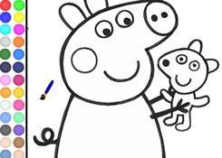 JuegosdePeppa.com - Juego: Colorear Peppa Pig Pintar Dibujos Online Juegos Peppa  Gratis Online