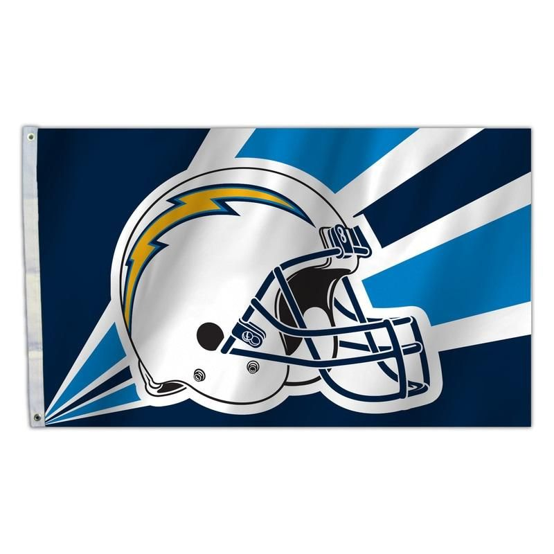 d8e118d4 Los Angeles Chargers Flag 3x5 Helmet Design | NFL Sports Fan Merch ...