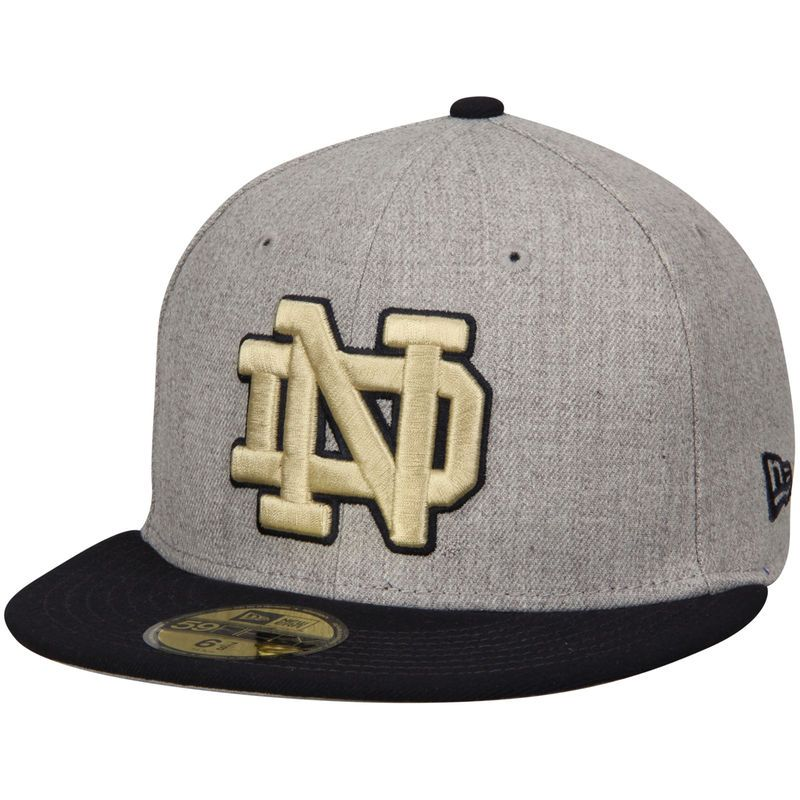 outlet store 6574b b54b5 ... order notre dame fighting irish new era action 59fifty fitted hat  heathered gray navy 2cfc8 eb5ed