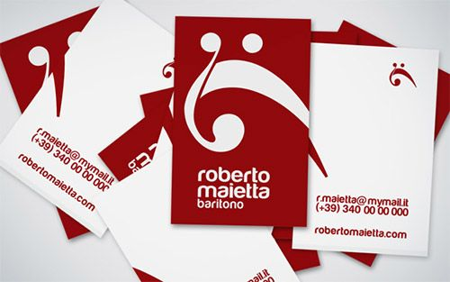 20 fantastic business cards for musicians business cards business red white business card music reheart Images