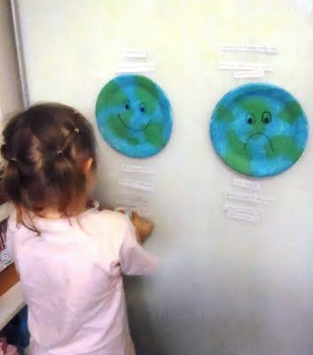You could do so many activities with this idea. What makes the Earth happy?