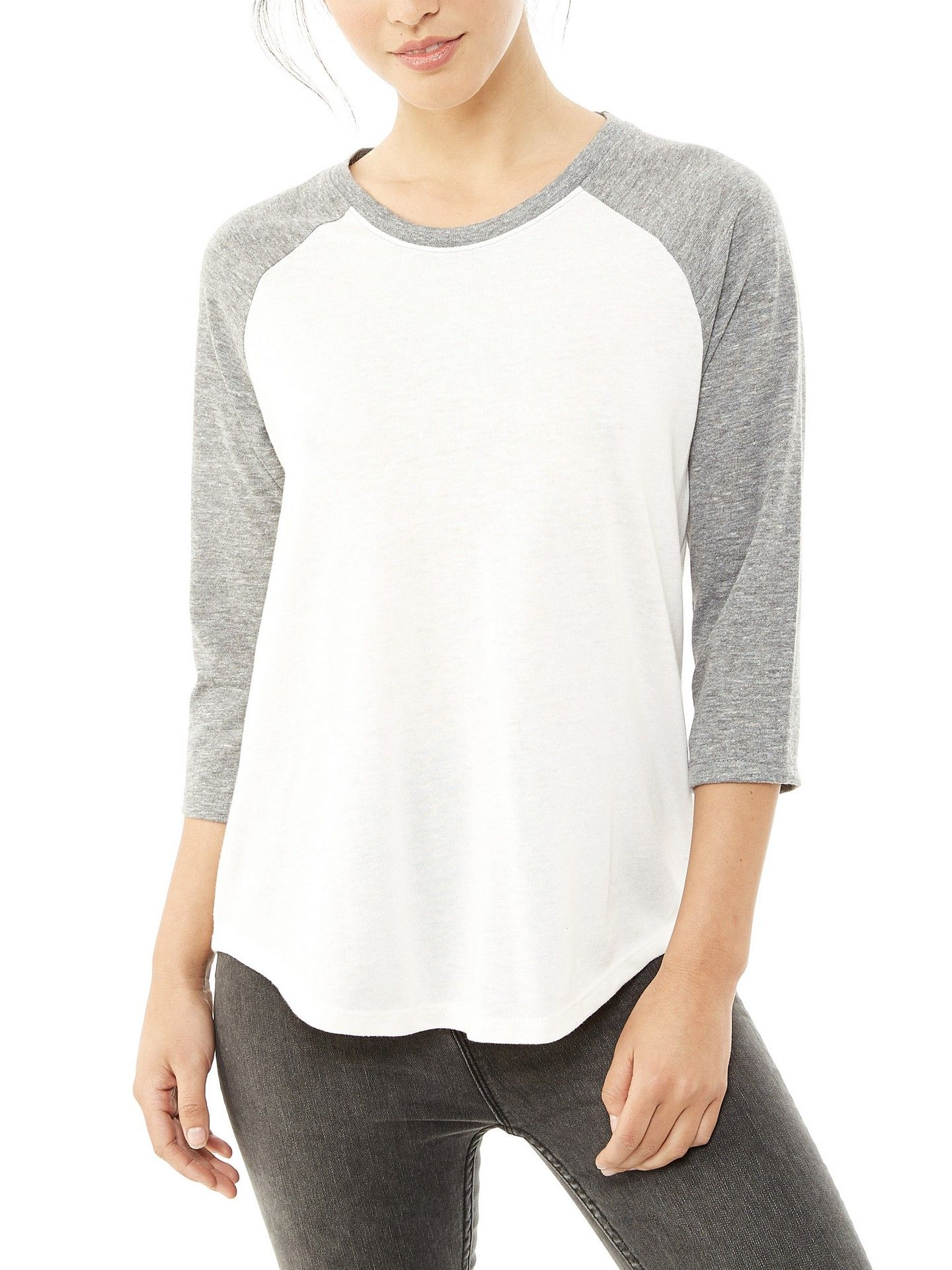 1ce2fbf2078c A men s inspired baseball tee made to fit for women. Crafted in our soft  Eco Jersey for ultimate comfort and casual look.