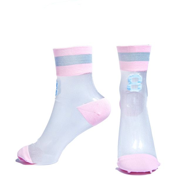 Stance Good Girl 88 Anklet Socks ($16) ❤ liked on Polyvore featuring intimates, hosiery, socks, arch support socks, multi colored socks, anklet socks, crew cut socks and multicolor socks