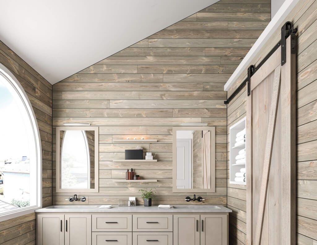 10 Shiplap Bathroom Ideas 2020 Fresh And Trendy In 2020 Shiplap Bathroom Ship Lap Walls Modern Farmhouse Bathroom