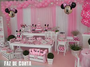 Faz De Conta Festa Minnie Festa Minnie Rosa Decoracao Festa Minie