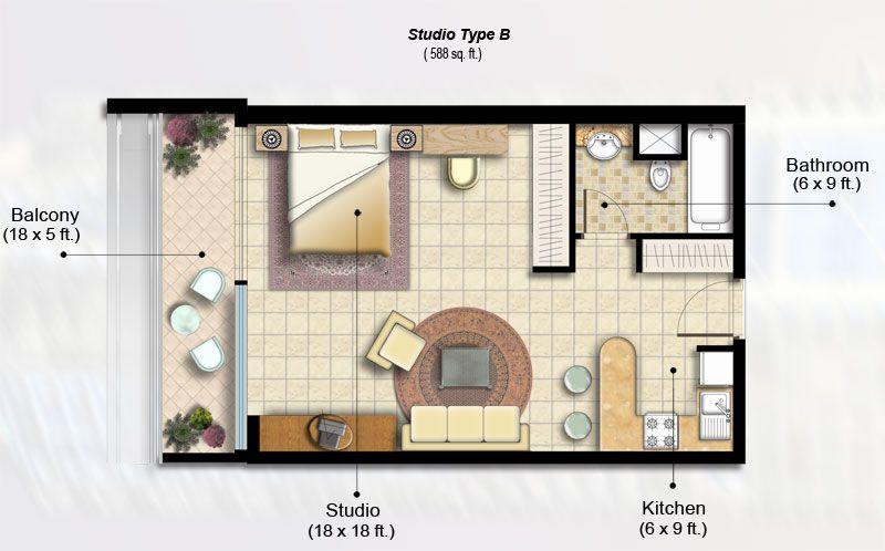 Indigo Tower Floor Plans Jlt Dubai Studio Apartment Layout Decorating