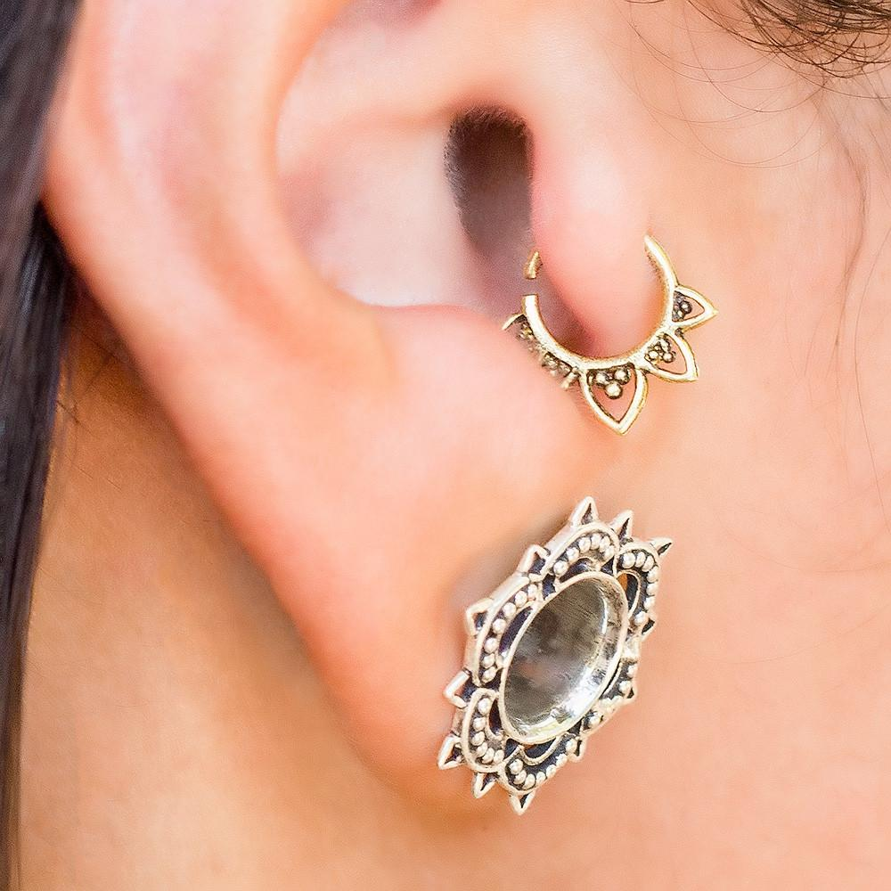 Piercing nose with earring  Tribal Tragus Earring  Helix Earring  Products  Pinterest  Products