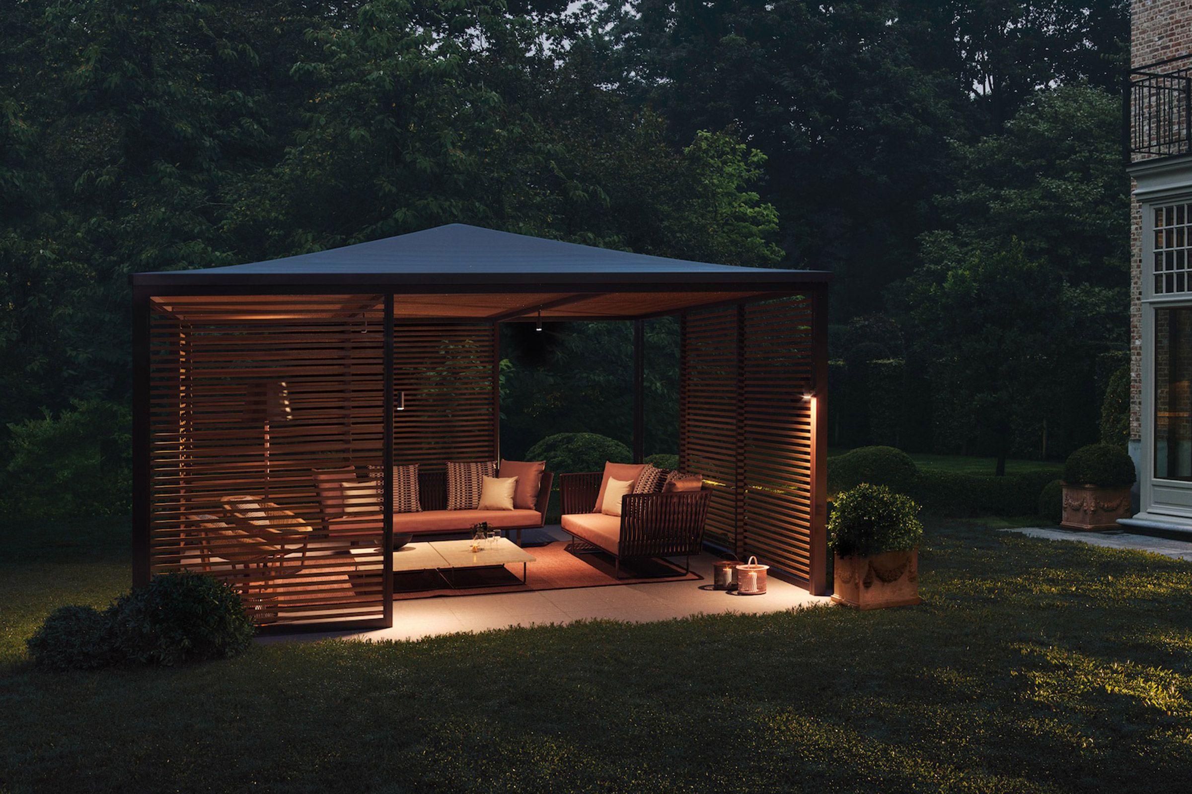 Kettal Pavilions Pavilion H simple Aluminum pergola