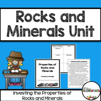 Rocks and minerals unit reading passages venn diagrams and minerals focuses on identifying properties of rocks and minerals perfect for your 3rd and 4th grade includes reading passages book list cards venn diagram ccuart Choice Image