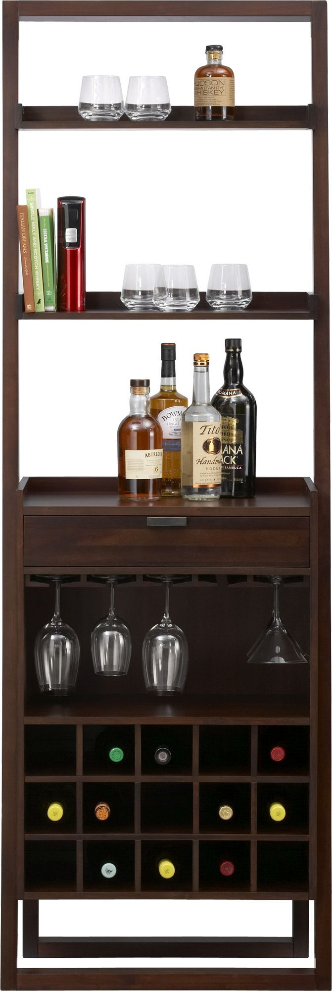 Sloane Java Leaning Wine Bar Crate And Barrel 255 X 14 X 76