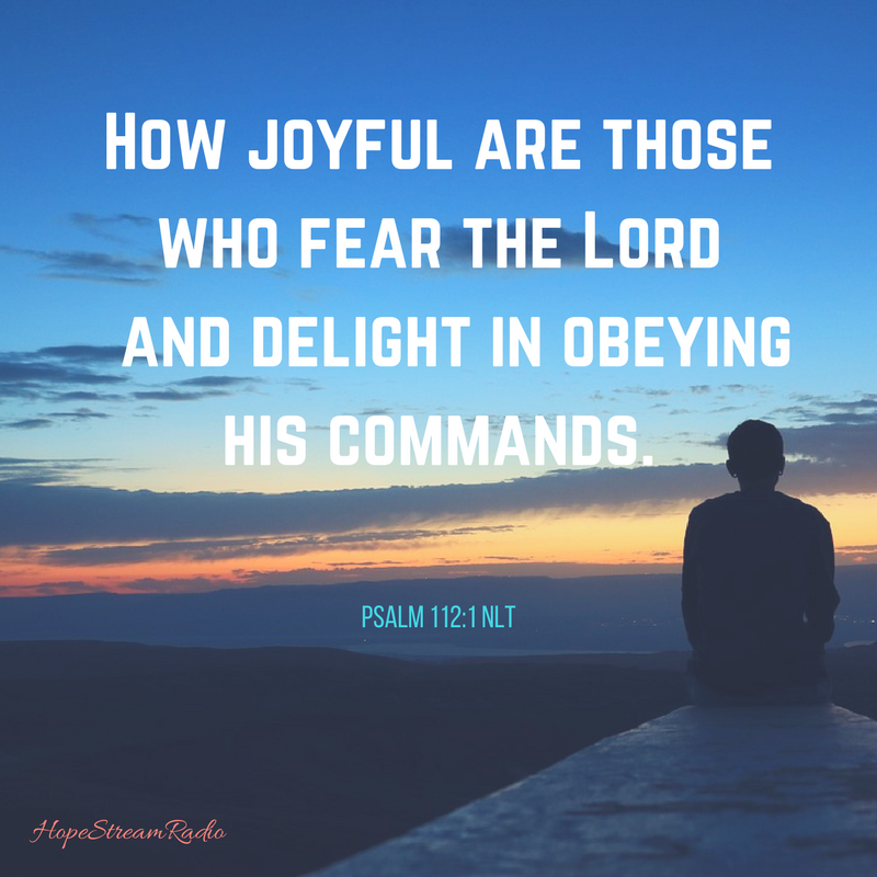 Obey His commands!