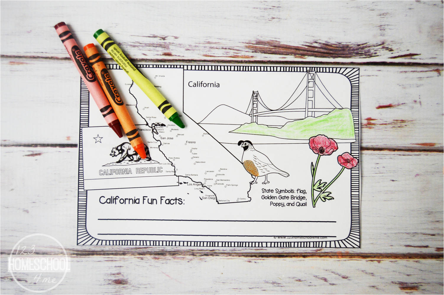 Free 50 States Coloring Book