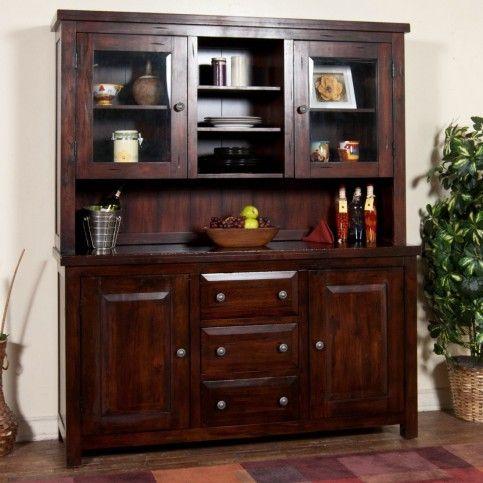 Sunny Designs Dining Room Vineyard Mahogany Buffet And Hutch