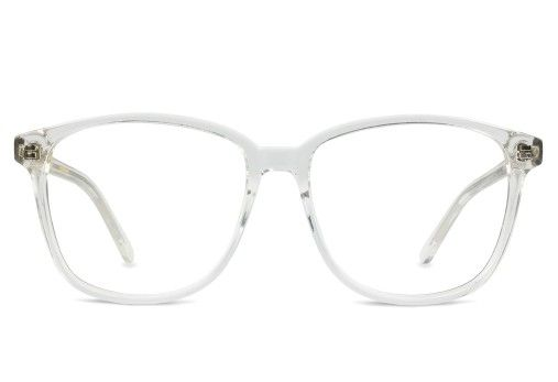 f890cbe9f1 Get the coolest look   find out what are the hottest sunglasses   eyeglasses  trends of. Designer oversized square eyeglasses frames in clear by Vint   amp  ...