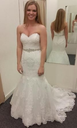 Elegant David us Bridal v Size Used Wedding Dresses