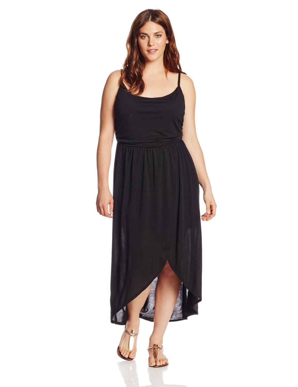 Derek Heart Juniors Plus-Size Tulip Hem Hi Lo Maxi Dress $27 ...