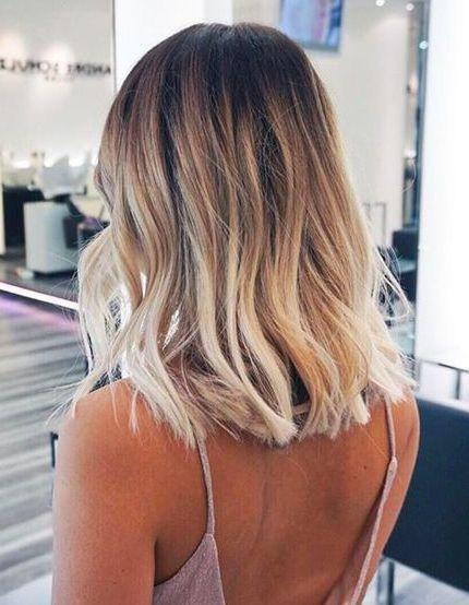 kurze Frisuren - Ideen, blond zu werden - Icy short balayage #blondeombre kurze ...
