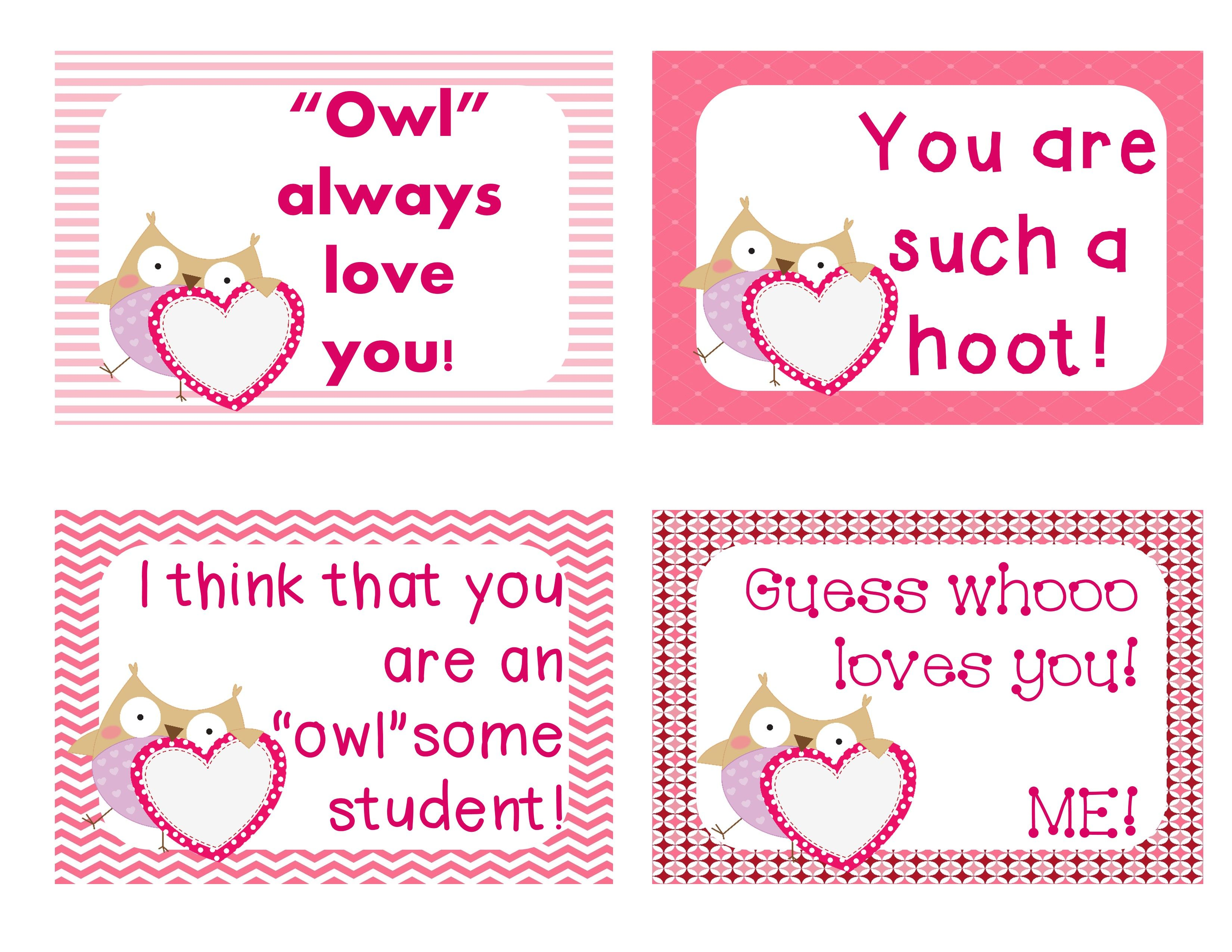 Free Valentine S Day Cards For Your Students 24 Unique Messages