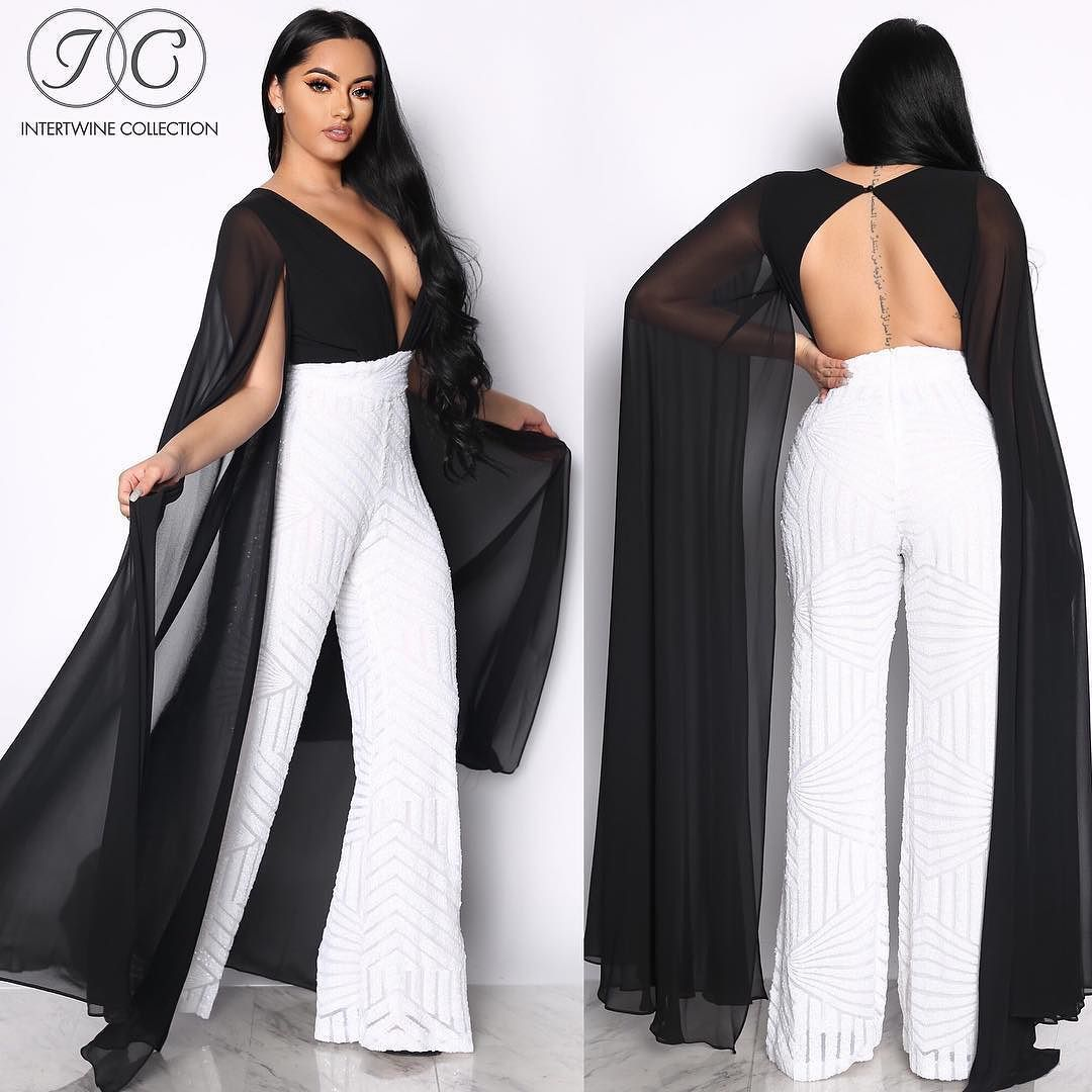 5a09d84e9b1 NEW IN  SLAY THE RUNWAY SEQUINS JUMPSUIT - BLACK WHITE  THIS IS DEFINITELY  OUR ULTIMATE FAVORITE! Available Now.  IntertwineCollection ...