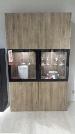 Coleccin besta ikea  vitrina comedor  aparador