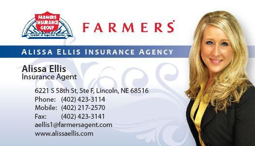 Insurance marketing business card http for Farmers insurance business card template