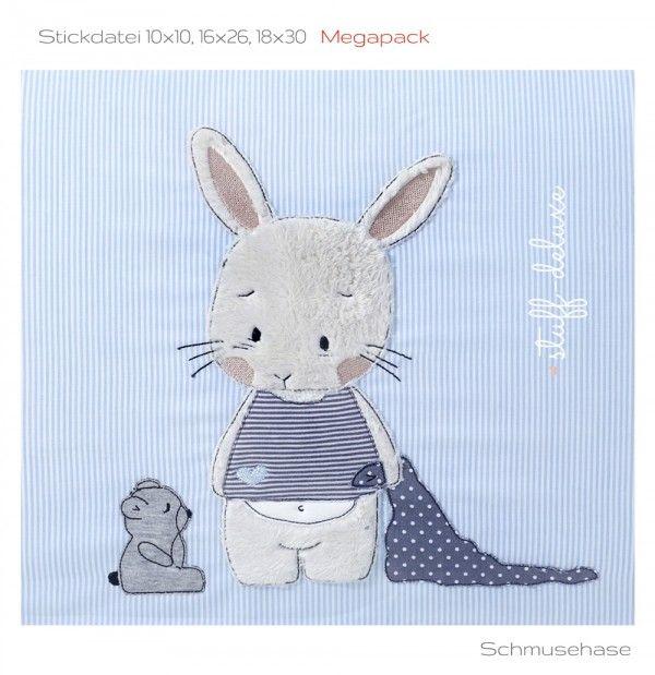 Megapack Schmusehase 13×18, 16×26, 18×30 – Stickdateien – Shop