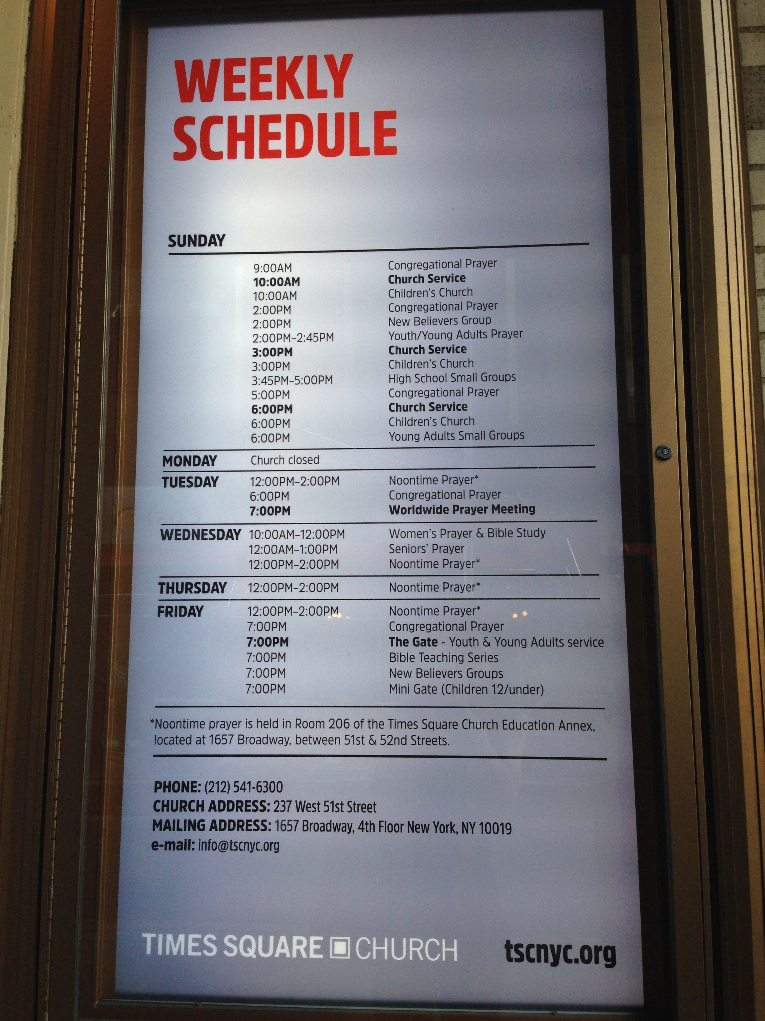 Times Square Weekly Time Schedule Priscilla De Leon Childrens Church Time Schedule Small Groups