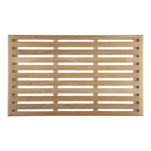 Teak Doormat - won't absorb rain with the slats, so no mold growing