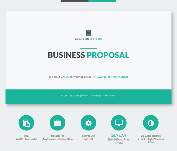 Clean And Simple Business Powerpoint Template  Referncias
