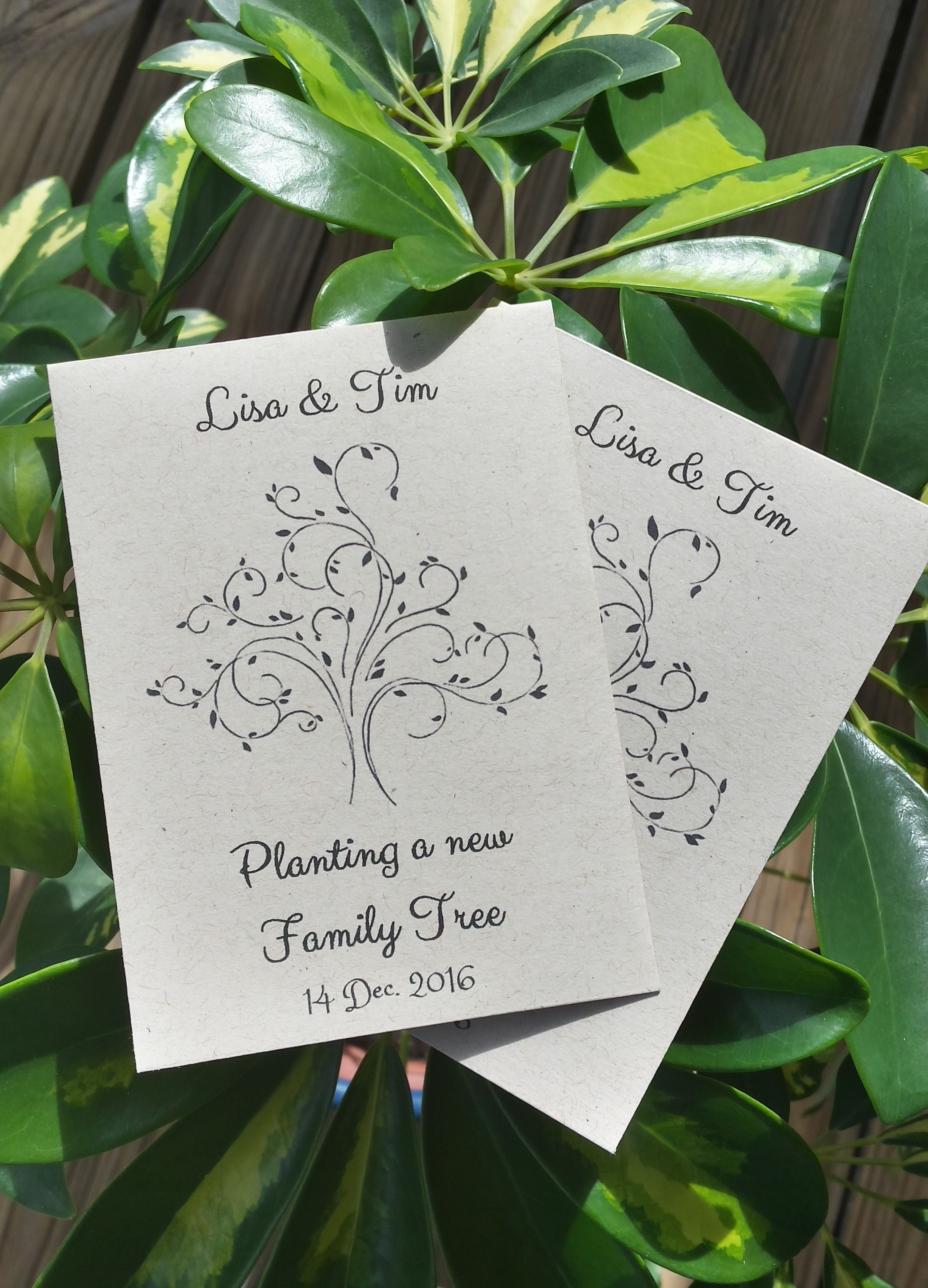 25 Wedding/Bridal Shower Seed Packet favors - Planting a new family ...