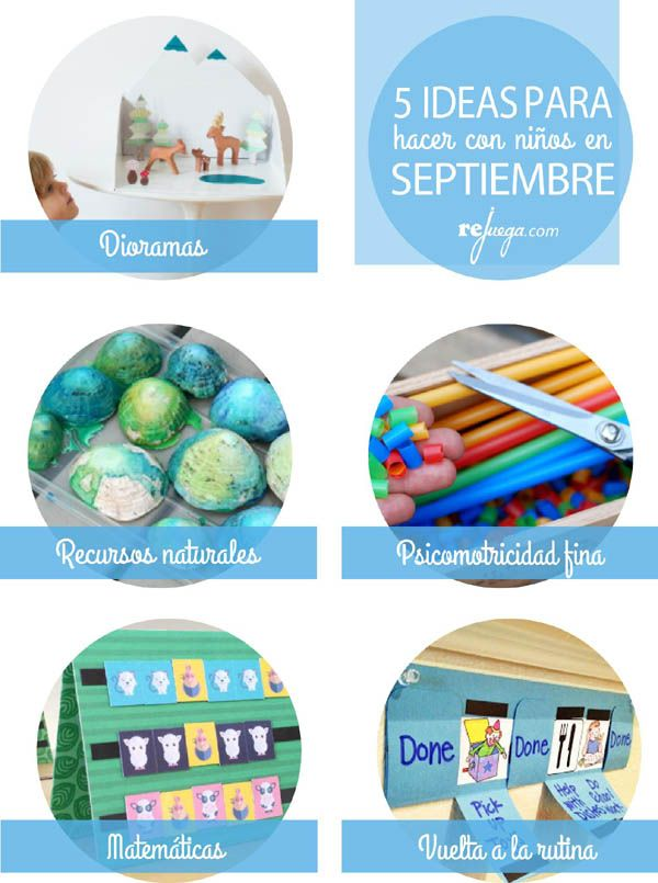 5 ideas para hacer con niños en Septiembre   Rejuega - y disfruta ...