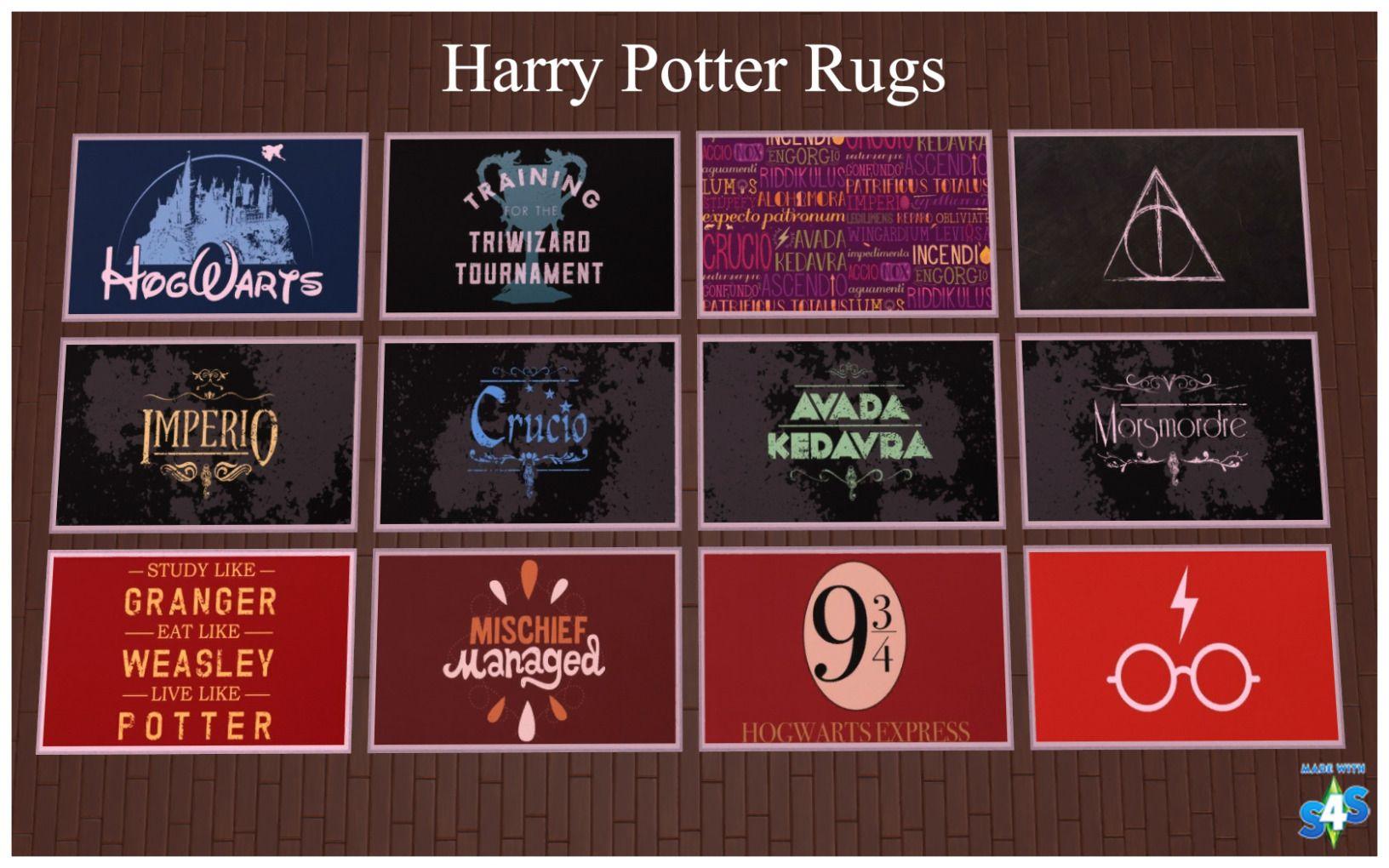 Ts4 Harry Potter Rugs