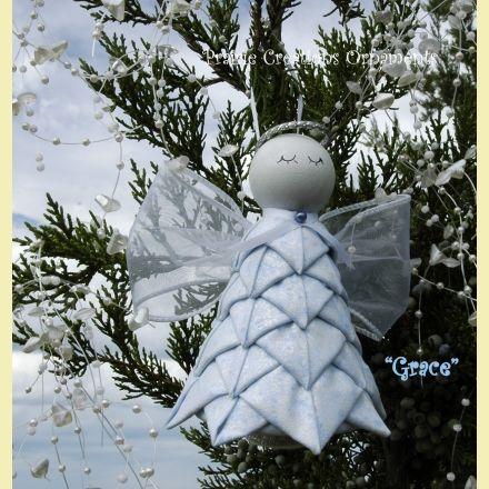 No Sew Quilted Angel Kit And Pattern Grace Quilted Christmas Ornaments Angel Ornaments Diy Felt Christmas Ornaments