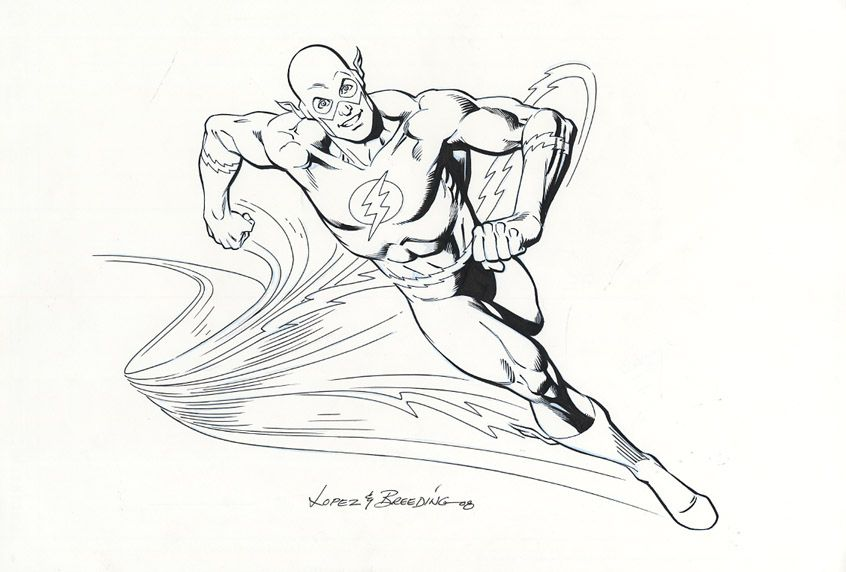 the flash coloring pages running effect  superhero