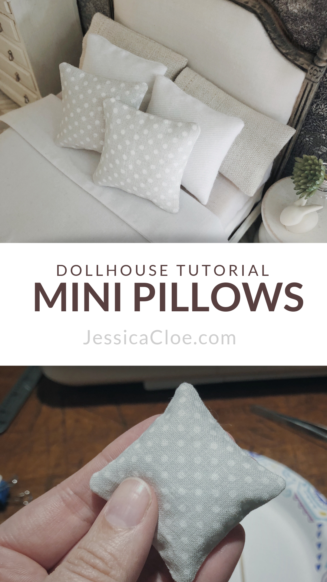 DIY Dollhouse Pillows — Jessica Cloe Miniatures