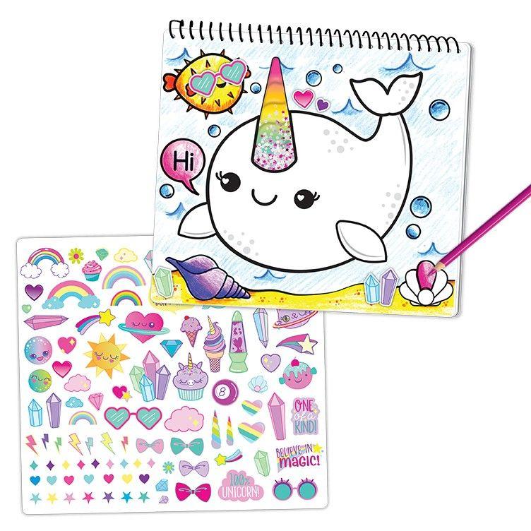 Unicorn Fantasy Portfolio Sketch Set Unicorn Fantasy Hello Kitty Toys Magical Pictures