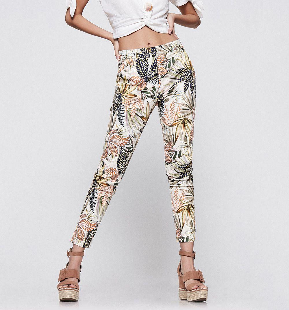 Pantalon Estampado Chino Studio F Pantalones Estampados Pantalones Moda Para Mujer